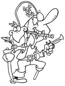 Пират с ножом во рту