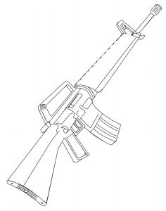 М-16 раскраска детская