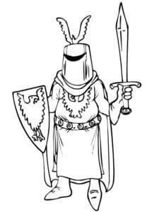Рыцарь с птицей на щите