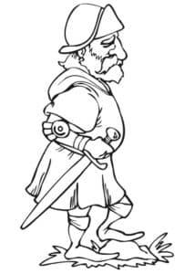 Дедушка рыцарь с мечом