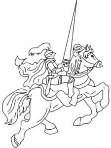 Рыцарь с большим копьем