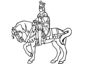 Рыцарь сидит на лошади