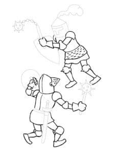 Рыцари сражаются