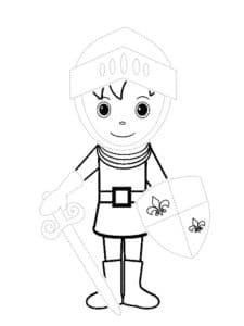 Мальчик одет в рыцаря
