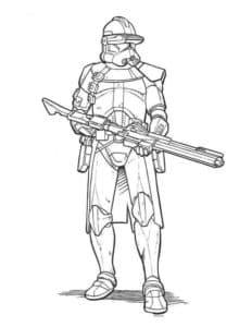 Солдат с огнеметом