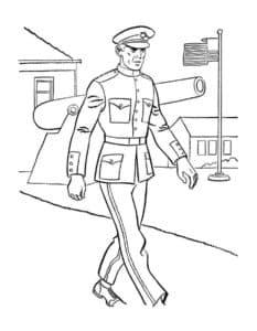 Военный в форме
