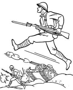 Солдаты идут в атаку