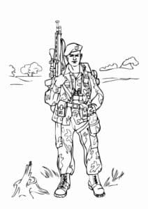 Военный раскраска детская