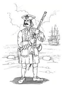 Солдат с мушкетом