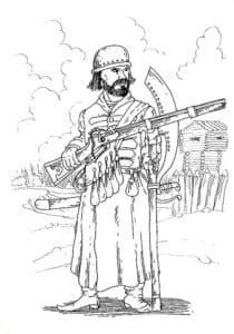 Индеец с ружьем