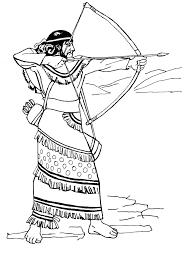 Индеец с луком