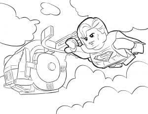 Лего Супермен летит