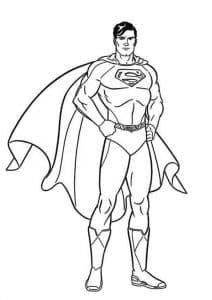 Супергерой Супермен раскраска