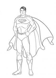 Супермен в трусах раскраска