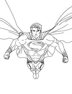 Сильный Супермен раскраска детская