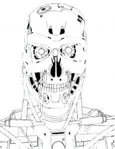 Голова робота детская раскраска