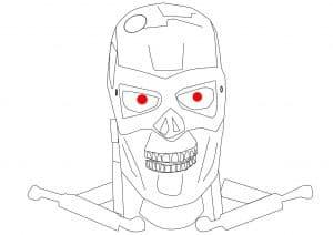 Терминатор с красными глазами