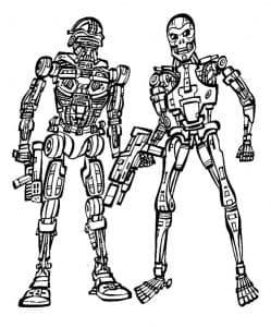 Два робота из терминатора