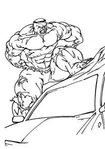 Халк крушит автомобиль
