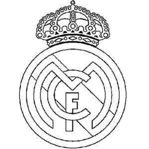Реал Мадрид раскраска детская