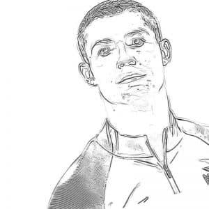 Лицо Роналду раскраска