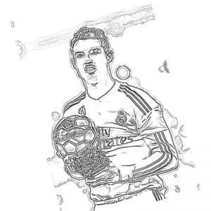 Футболист Роналду несет кубок