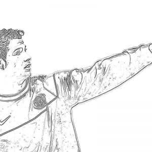 Роналду показывает рукой