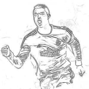 Роналду бежит раскраска детская