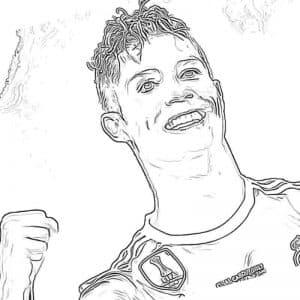 Роналду держит кулак