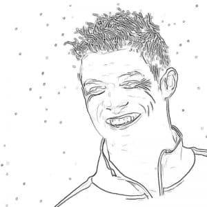 Роналду улыбается красивая раскраска