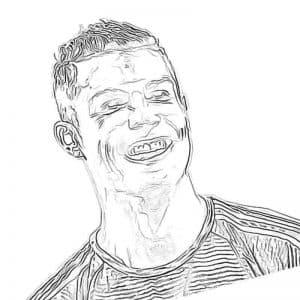 Роналду смеется раскраска
