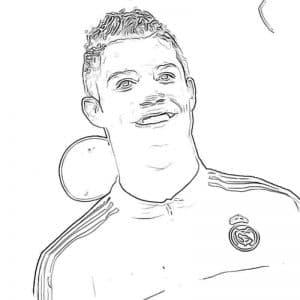 Роналду в форме раскраска