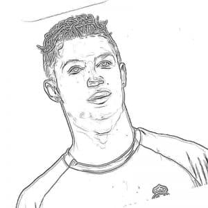 Футболист Роналду красивая раскраска