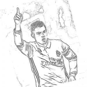 Роналду поднял палец вверх раскраска