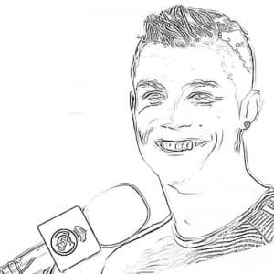 Роналду говорит в микрофон