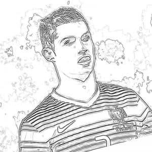 Роналду в футболке найк раскраска