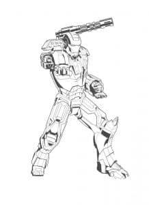 Железный человек с оружием