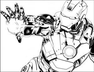 Железный человек стреляет рукой