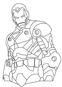 Железный человек раскраска для мальчиков