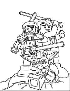 Лего Звездные воины и троль раскраска