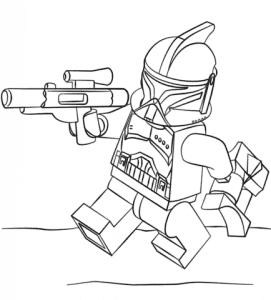 Лего Звездные воины раскраска