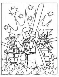 Лего раскраска Звездные воины