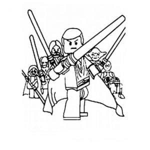 Лего Звездные воины раскраска для малышей