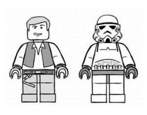 Лего Звездные воины робот и человек