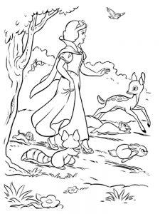 Белоснежка со зверятами