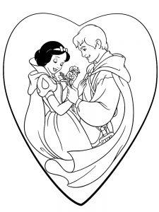 Фердинанд и Белоснежка раскраска