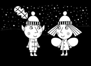 раскраска Бен и Холли
