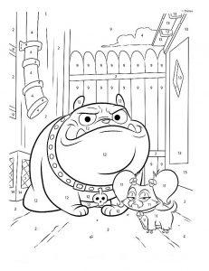 Раскраска Дружные Мопсы