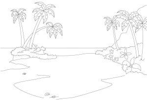 Раскраска остров