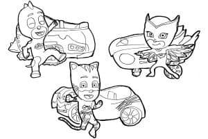 Герои в масках с автомобилями